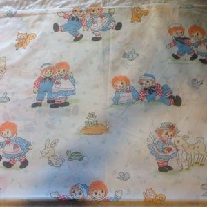Other - Vintage Raggedy Ann Andy Twin Size Flat Sheet